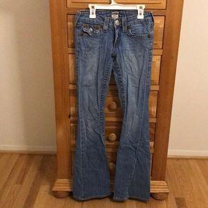 Like new flare leg True Religion jeans